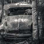 Långtidsparkerad Fiat