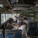 Längst bak i bussen